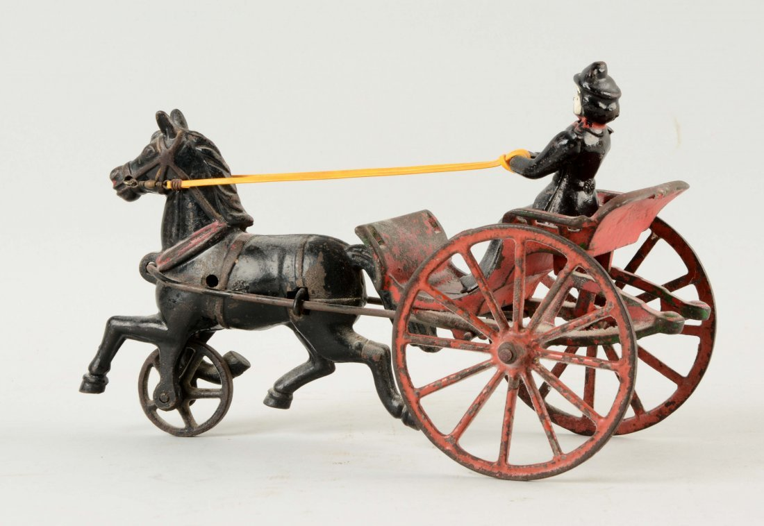 Cast Iron American Made Horse Drawn Surrey. - 2