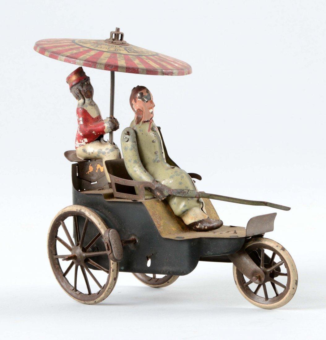 German Lehmann Tin Litho Wind Up Onkel-Onkel Toy.