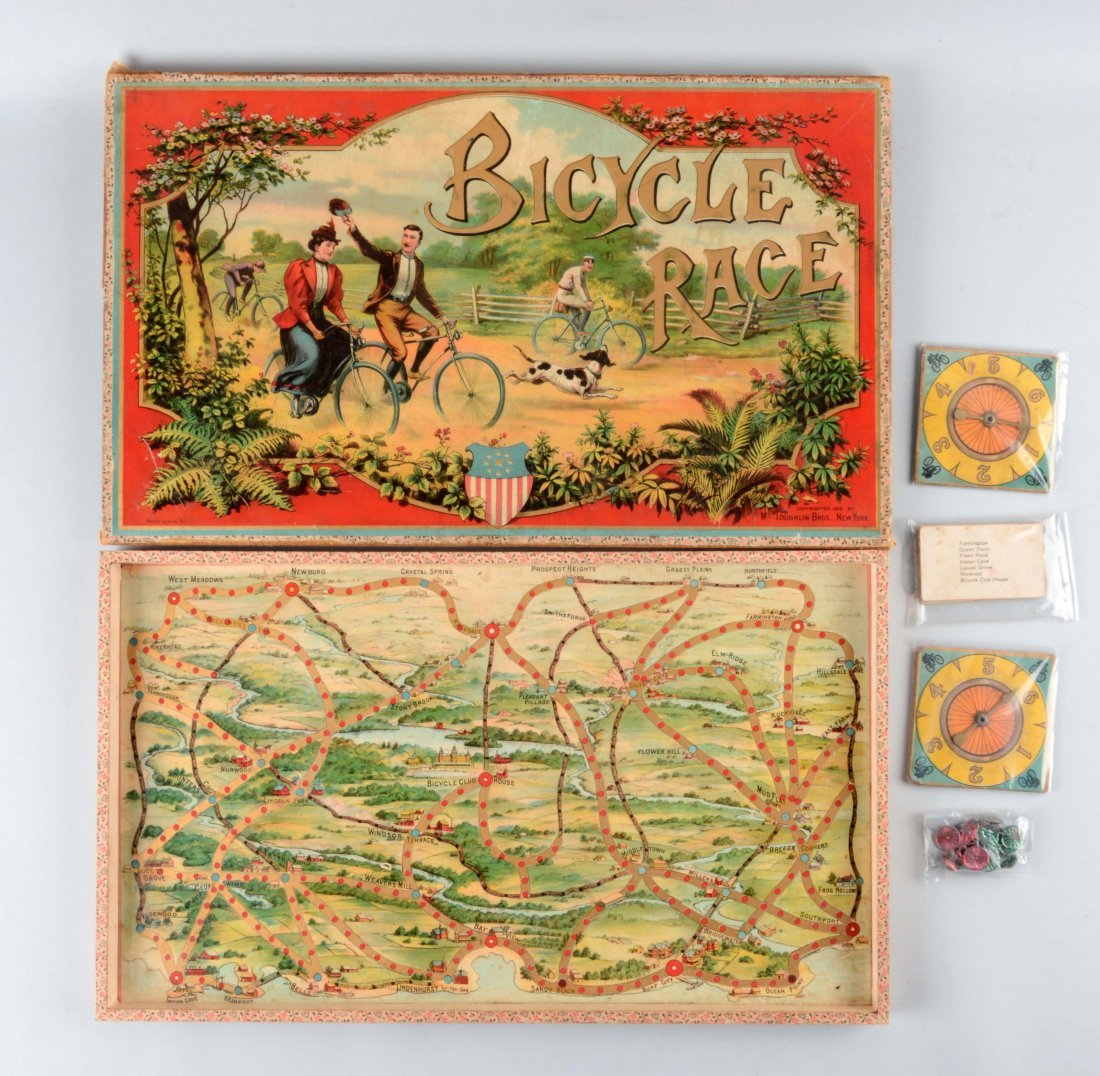 McLoughlin Bros. Bicycle Board Game.