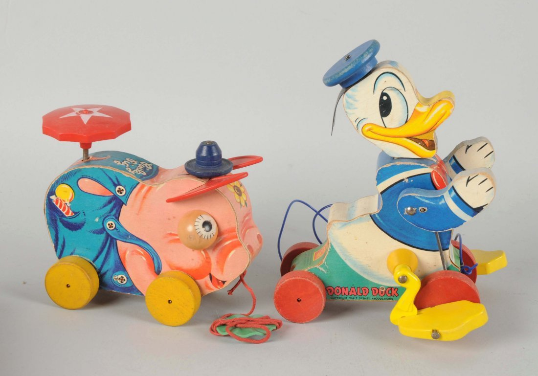 Lot Of 2: Fisher Price Paper on Wood Toys.