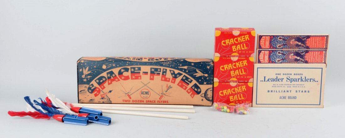 Lot of Various Acme Brand Fireworks.