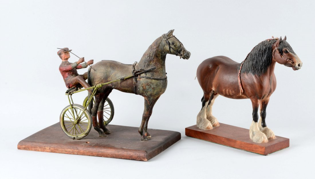 Lot Of 2: Horse Figurines.