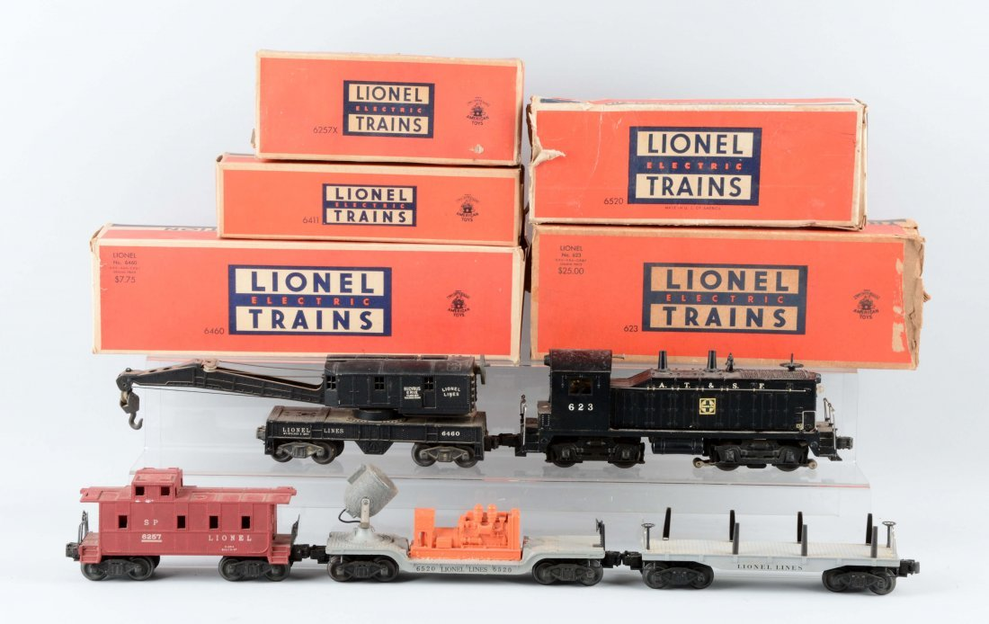 Lot Of 5: Lionel No. 623 & Freight Cars.