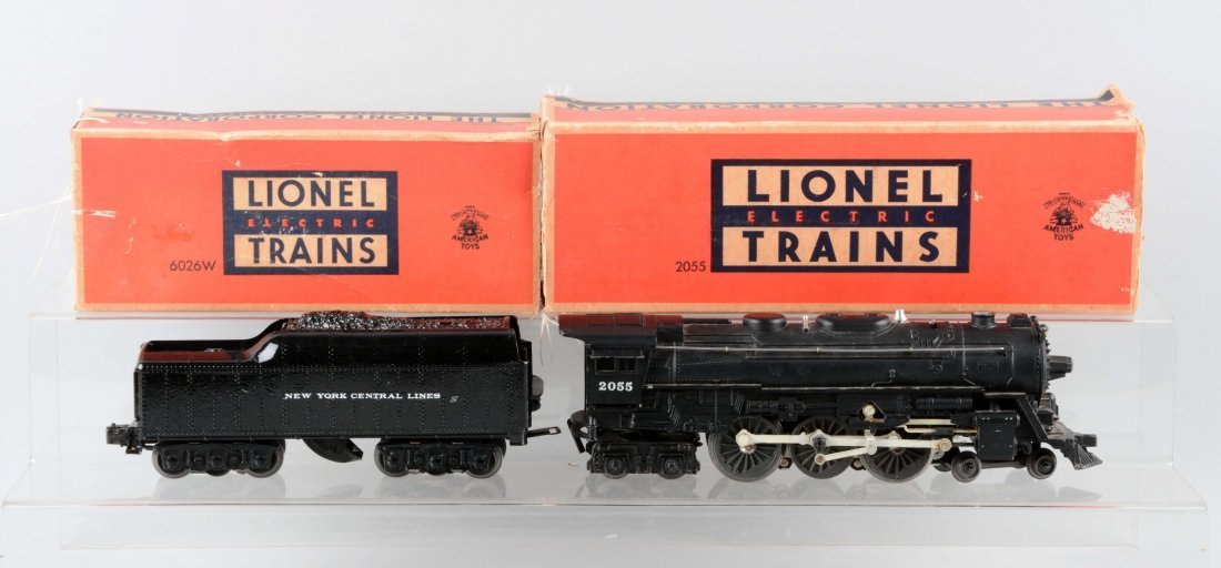 Lot of 2: Lionel No. 2055 Locomotive & No. 6071W