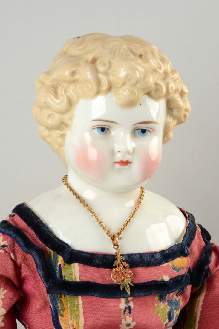 Lot Of 2: China Shoulder - Head Dolls. - 2