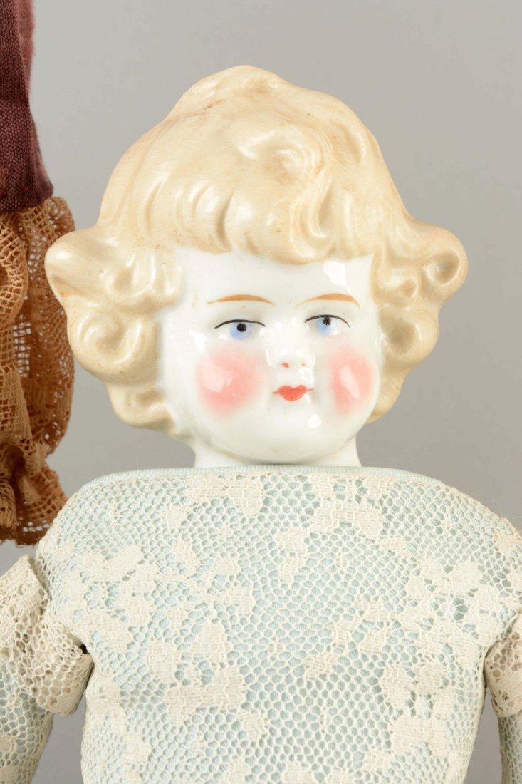 Lot Of 3: Assorted German China Head Dolls. - 3