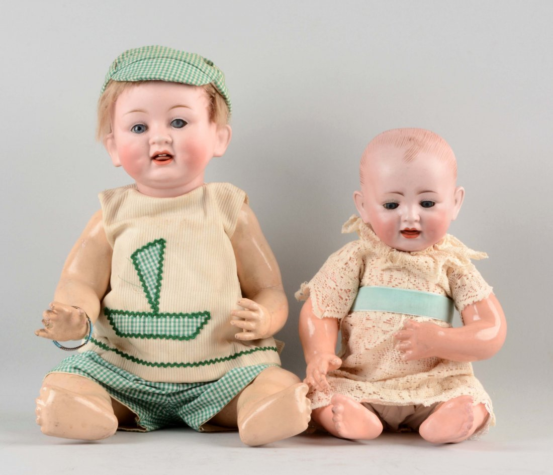 Lot Of 2: Bisque Head Baby Dolls.