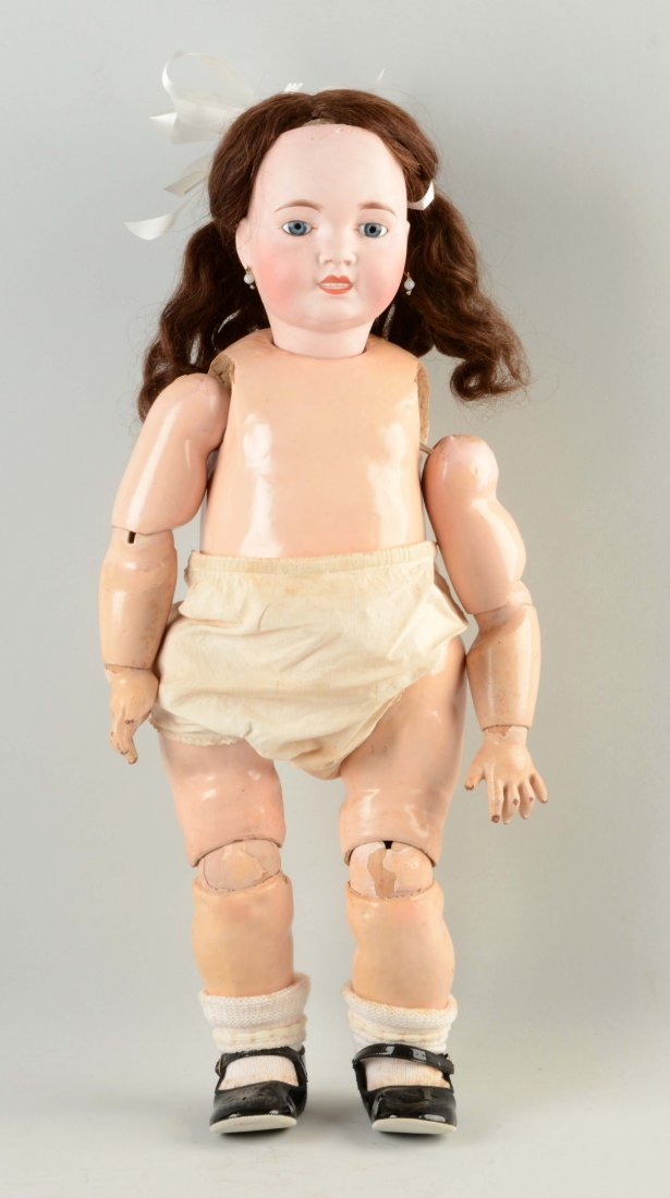 Large French Bisque Head Toddler Doll.