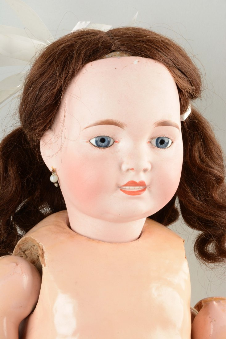 Large French Bisque Head Toddler Doll. - 2