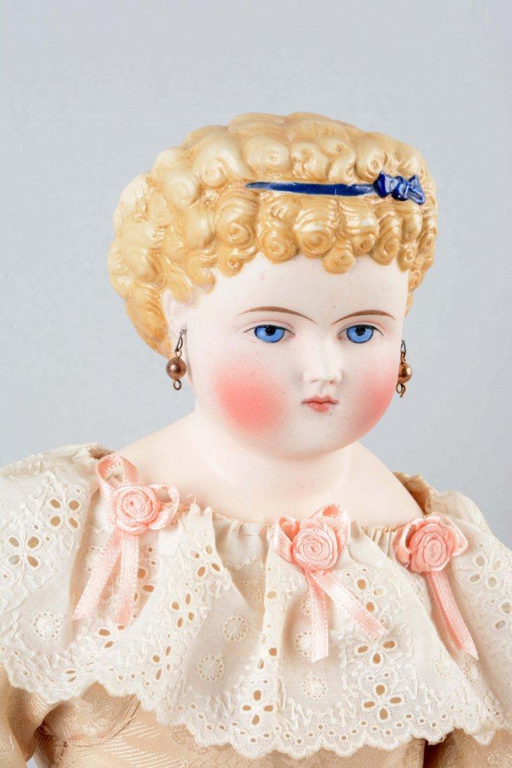 Lot Of 2: Parian Bisque Shoulder Head Dolls. - 2