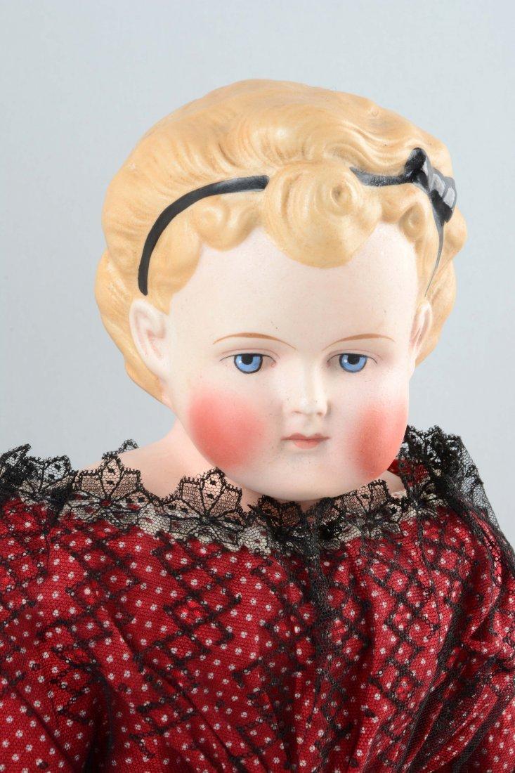 Lot Of 2: Parian Bisque Shoulder Head Dolls. - 3