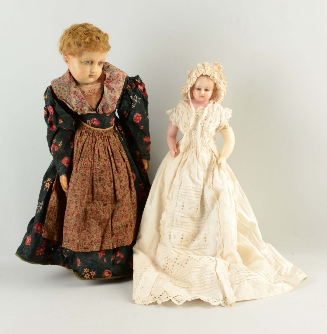 Lot Of 2: Wax Dolls.