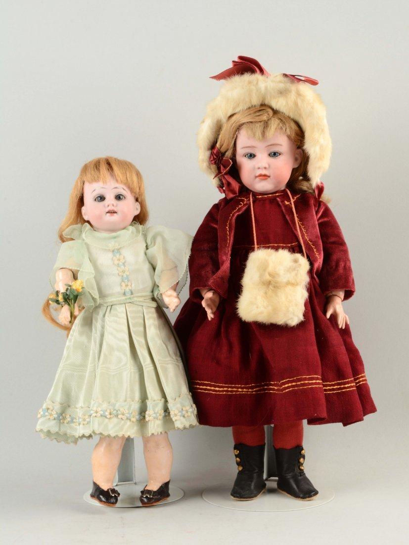 Lot Of 2: German Bisque Head Dolls.