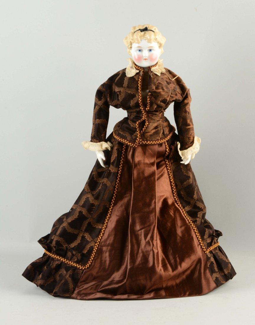 Blonde German China Head Doll.
