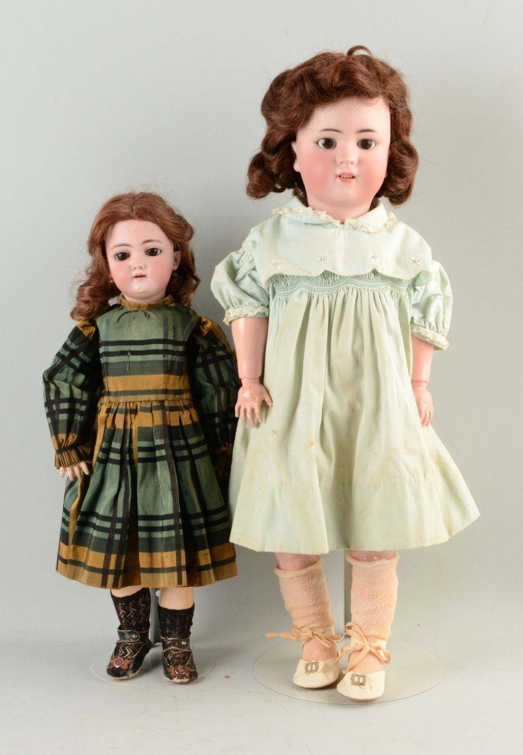 Lot Of 2: German Bisque Head Child Dolls.