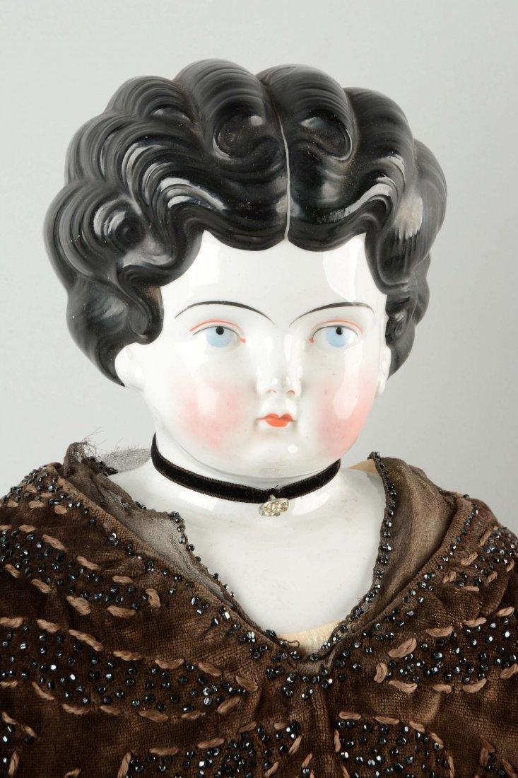 Lot of 3: German China Shoulder - Head Dolls. - 2