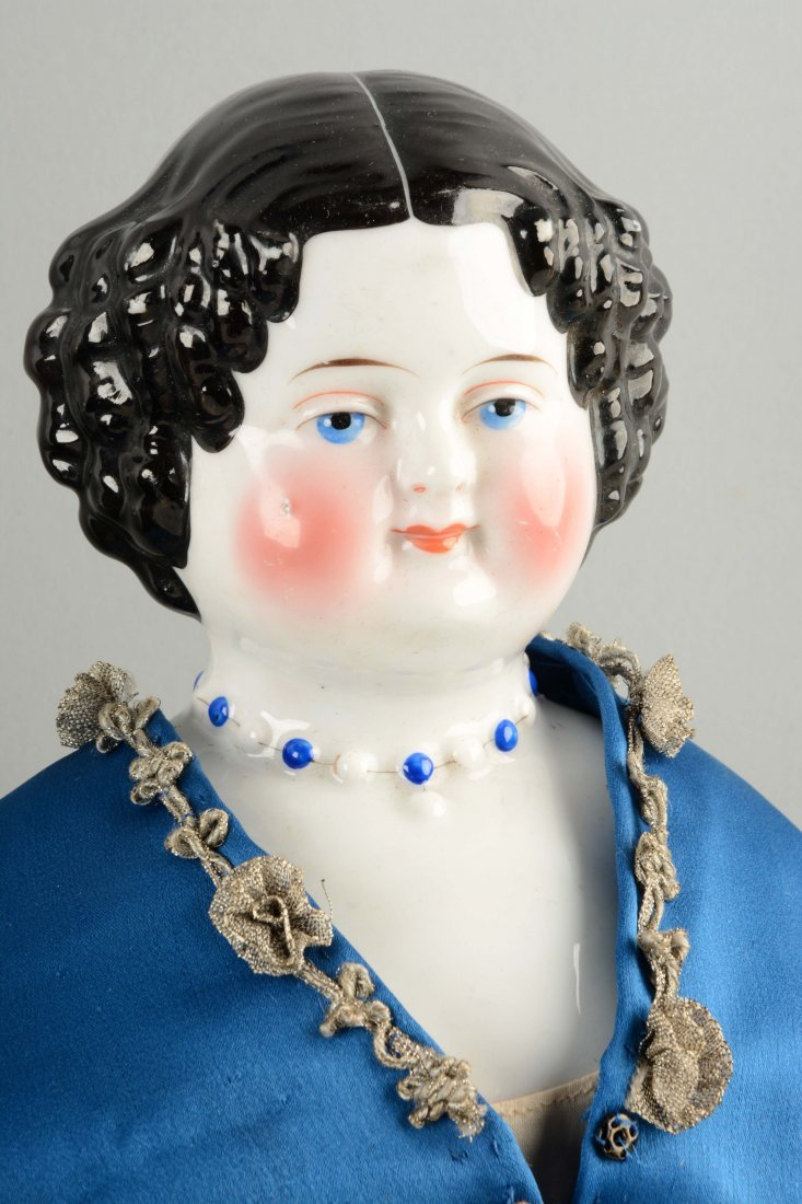 Lot of 3: German China Shoulder - Head Dolls. - 4
