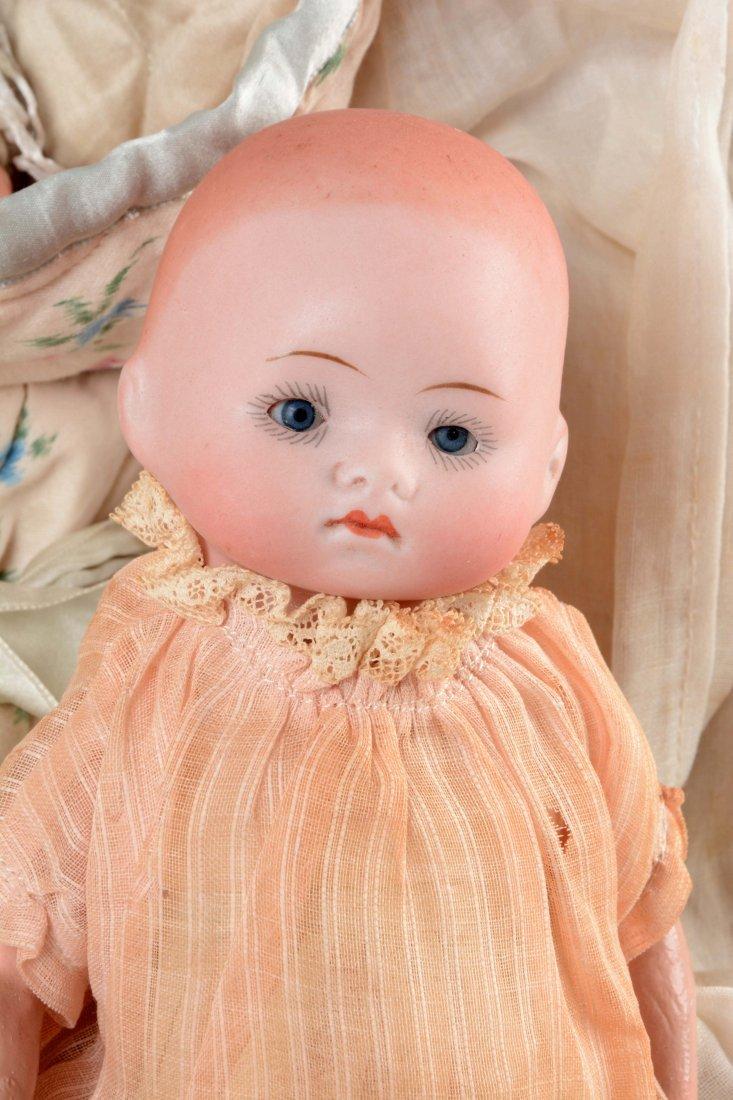 Lot Of 3: German Bisque Head Baby Dolls. - 3