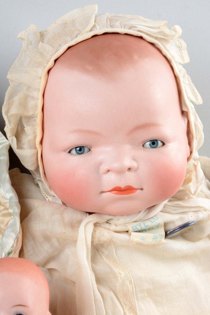 Lot Of 3: German Bisque Head Baby Dolls. - 4