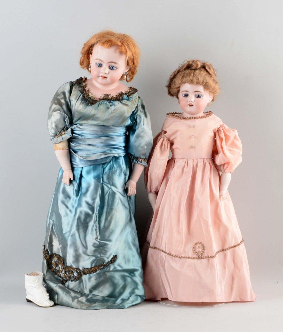 Lot Of 2: Simon & Halbig Shoulder - Head Dolls.