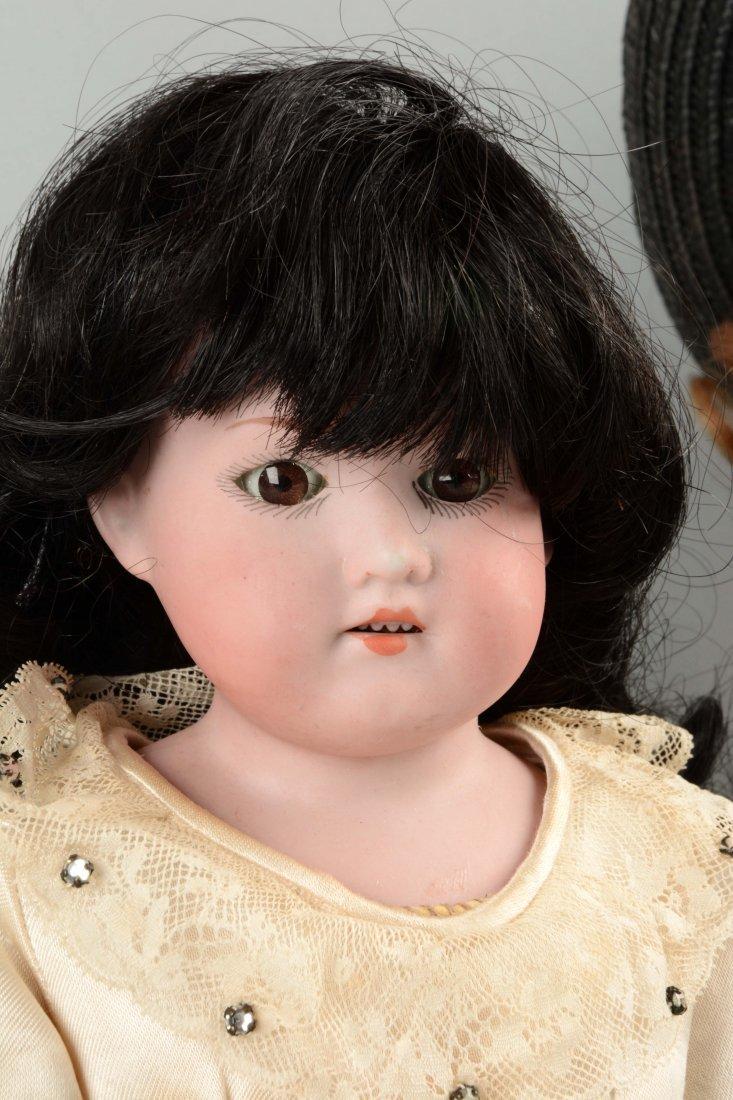Lot Of 2: German Bisque Shoulder - Head Dolls. - 2