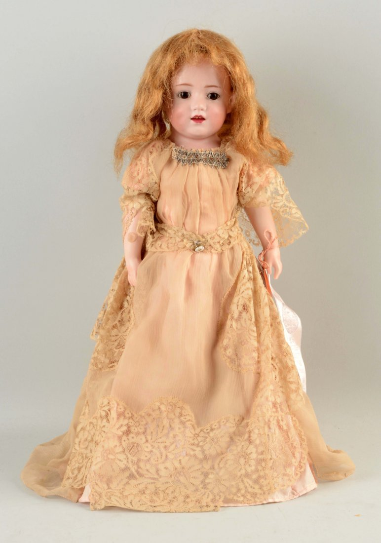 German Bisque Head Character Doll.