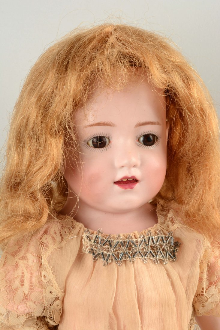 German Bisque Head Character Doll. - 2