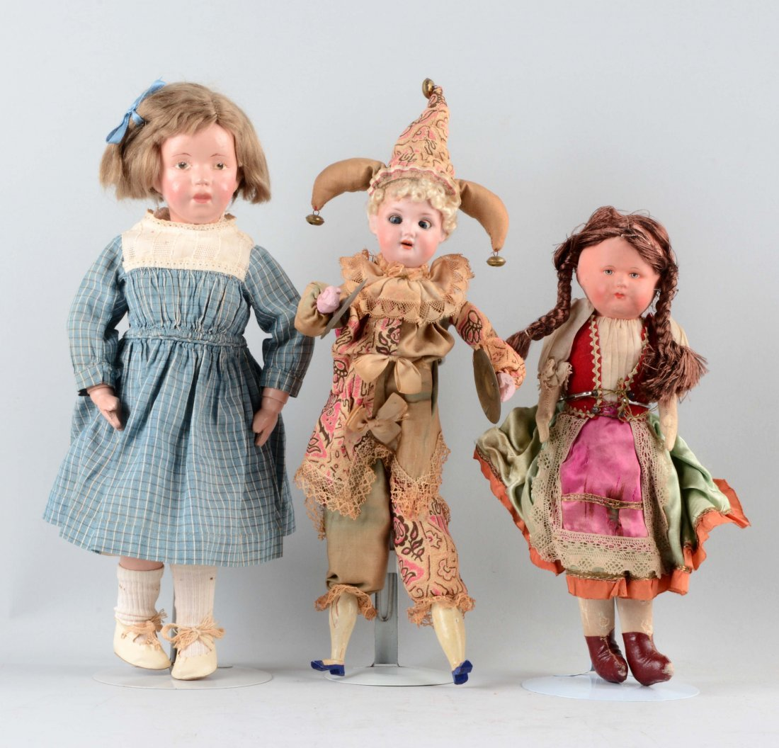 Lot Of 3: Assorted Dolls.