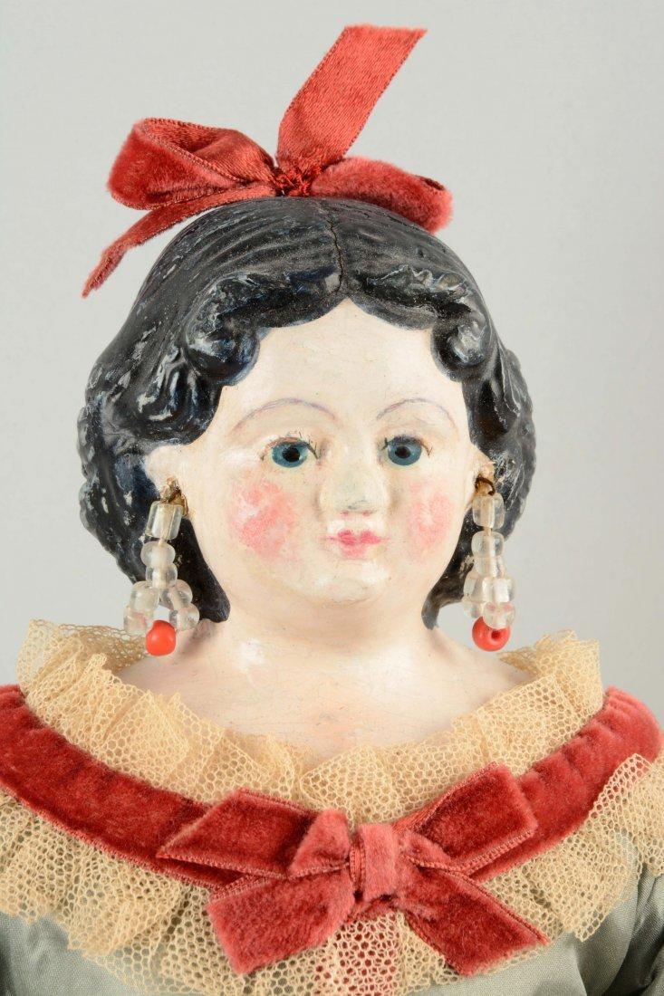 Lot Of 3: Assorted Papier-Mâché Dolls. - 2