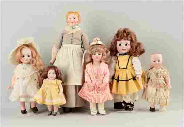 Lot Of 6: Artist And/Or Reproduction Dolls.