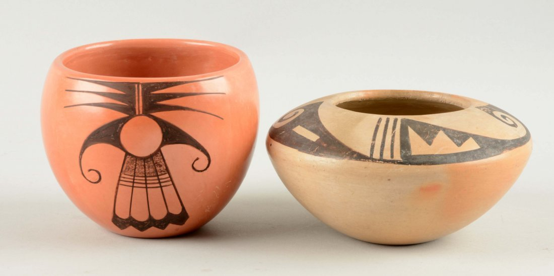 Lot Of 4: Native American Pottery Pieces.