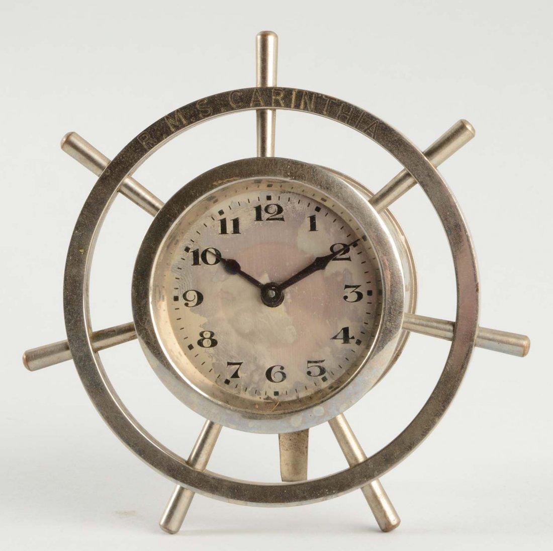 R.M.S Carinthia Ship Wheel Clock.