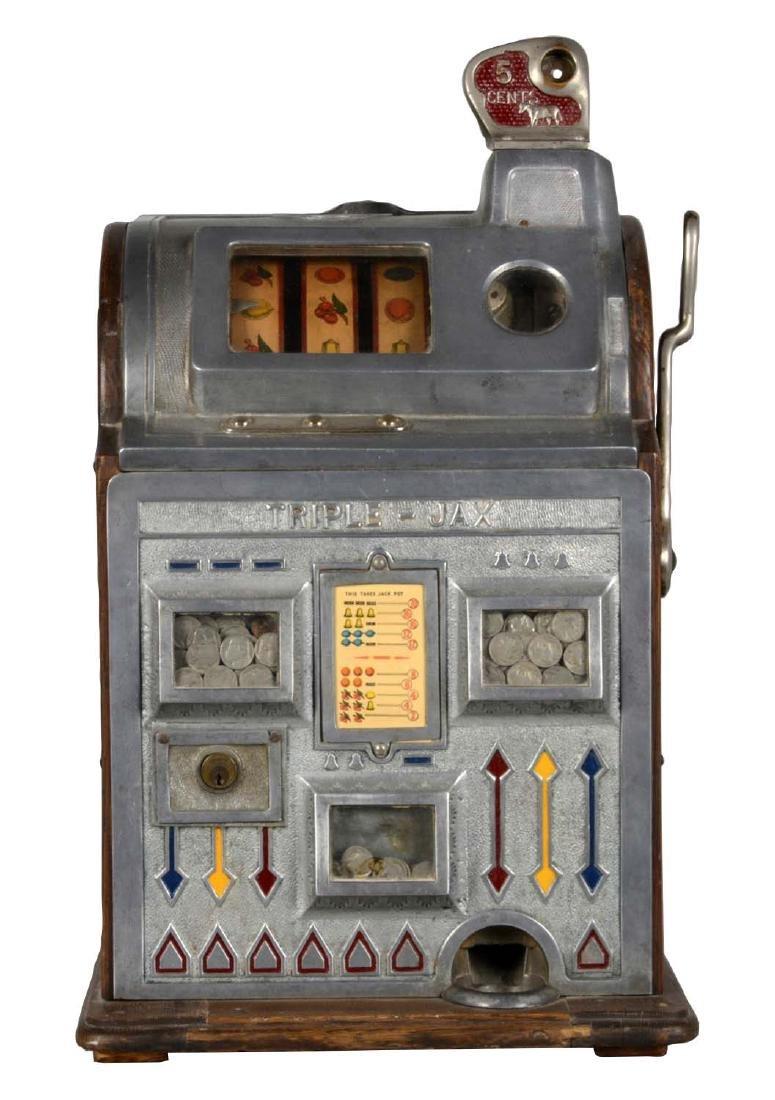 **5¢ Jennings Bull Durham Triple-Jax Slot Machine
