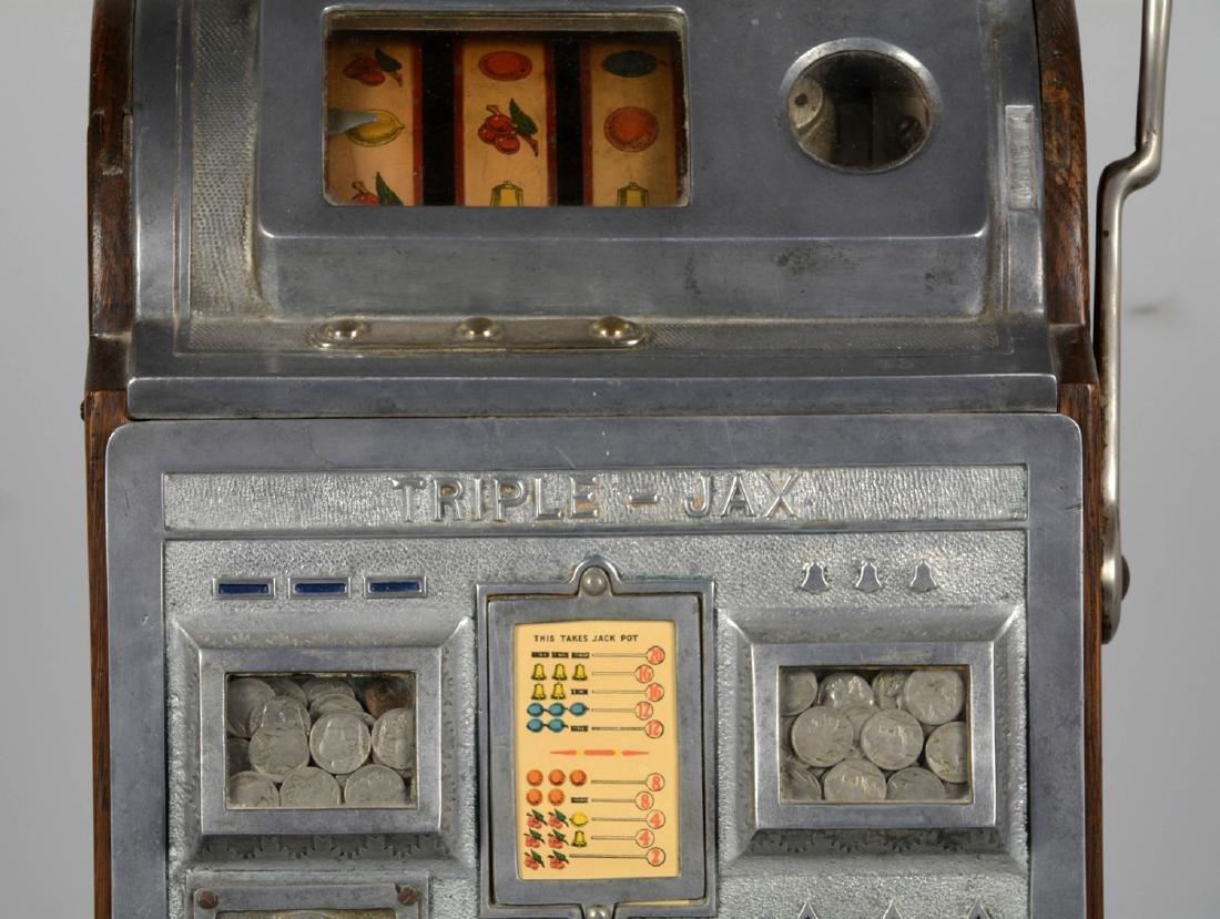 **5¢ Jennings Bull Durham Triple-Jax Slot Machine - 2