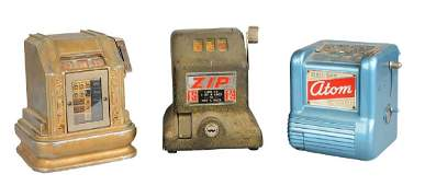**Lot Of 3: 1¢ & 10¢ Pocket-Style Trade Stimulators
