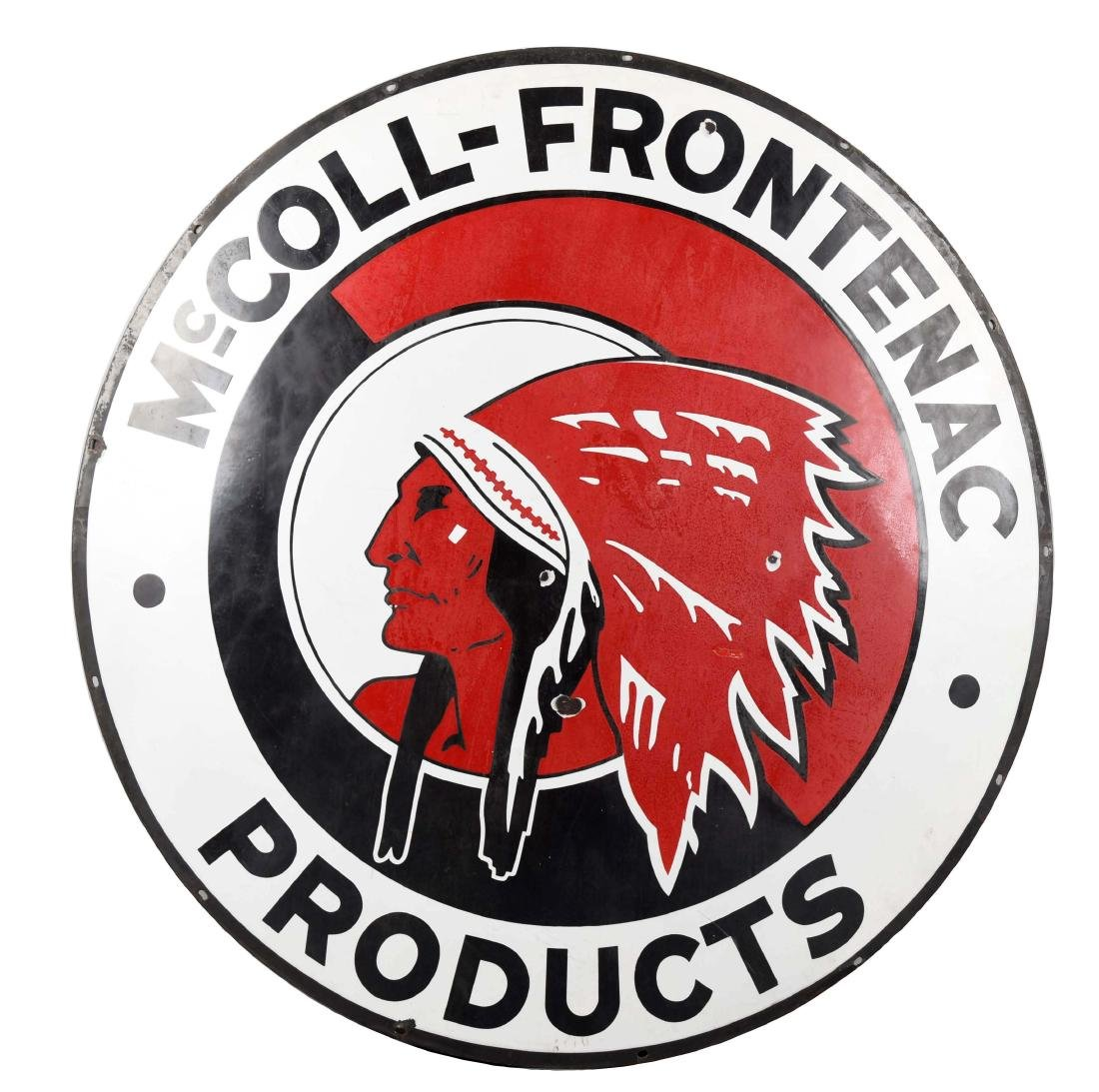 McColl-Frontenac (Red Indian) Products Porcelain Sign.