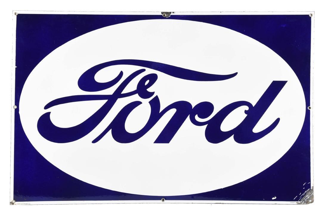 Ford Oval Porcelain Sign.