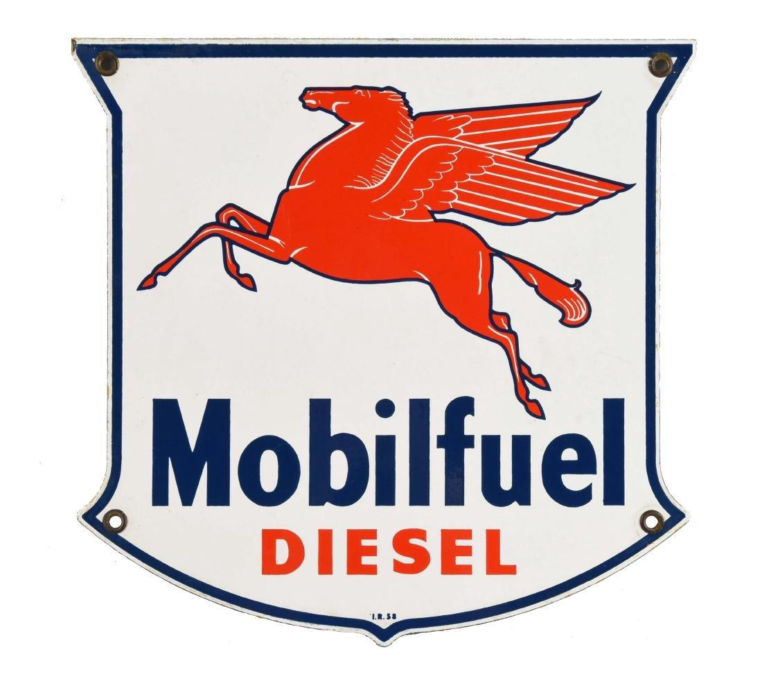Mobilfuel Diesel w/ Pegasus Shield Shaped Porcelain