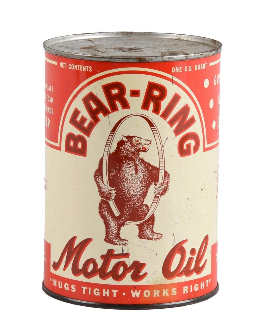 Bear-Ring Motor Oil w/ Logo One Quart Can.