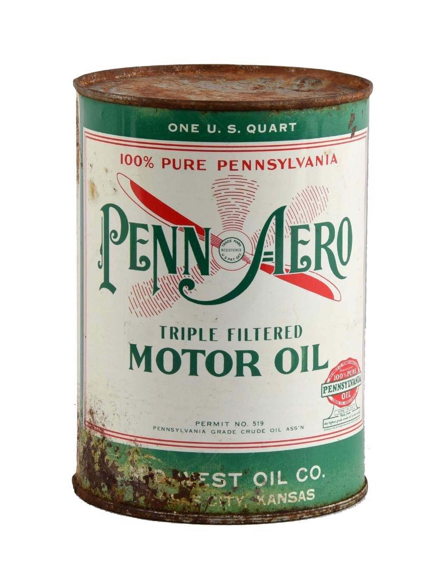 Rare Penn-Aero Motor Oil One Quart Can.