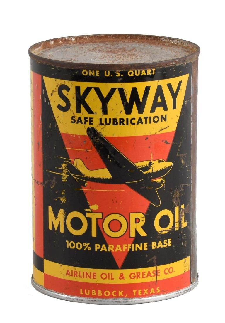Skyway Motor Oil One Quart Can.