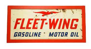 FleetWing Gasoline Motor Oil Tin Sign