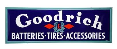 Goodrich Tires Batteries  Accessories Porcelain Sign