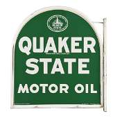 Quaker State Motor Oil Tombstone Shaped Sign