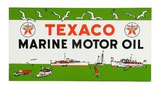 Texaco (whtie-T) Marine Motor Oil w/ Ships Porcelain