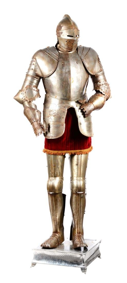 Full Victorian Suit of Armour with Stand.
