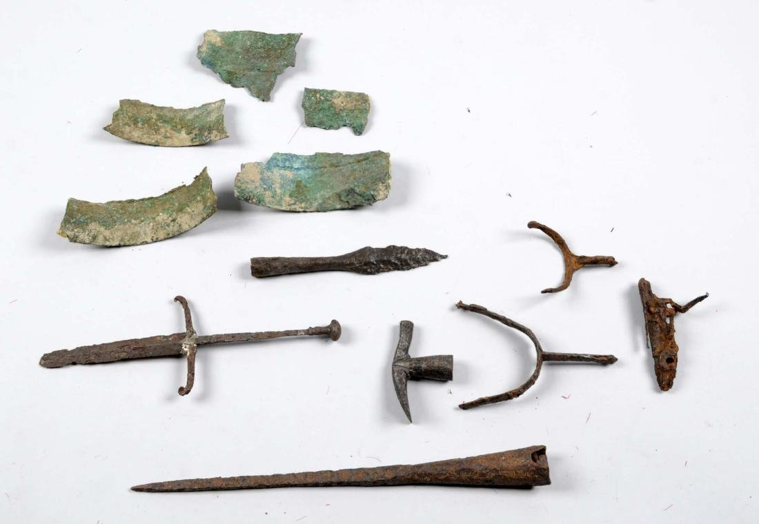 Lot of 14: Excavated Mixed Lot of Weapons.