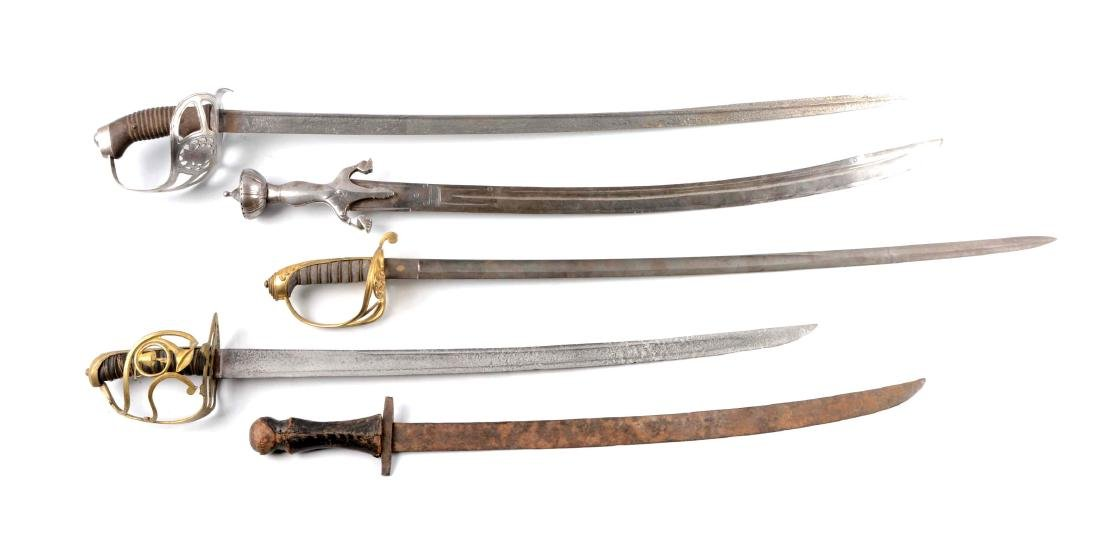 Lot Of 5: Five Different Style Swords.