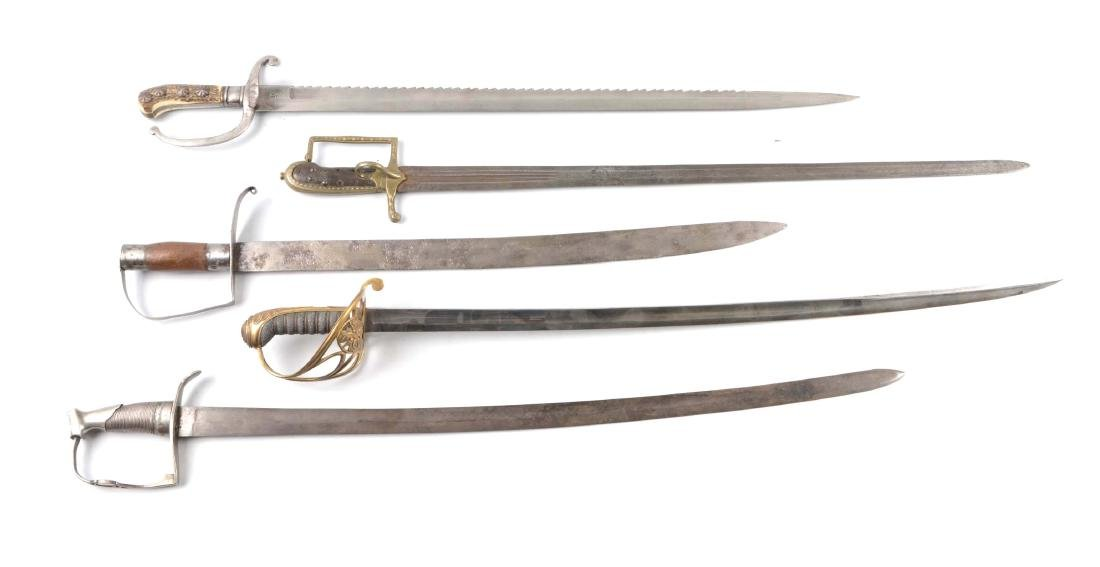 Lot Of 5: Five Sabers.
