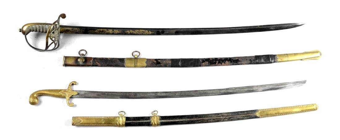Lot of 2: Sabers with Scabbards.